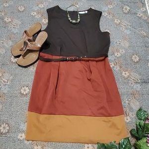 New York & Company Color Block Dress Size L